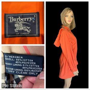Burberry's light orange hooded coat size XS
